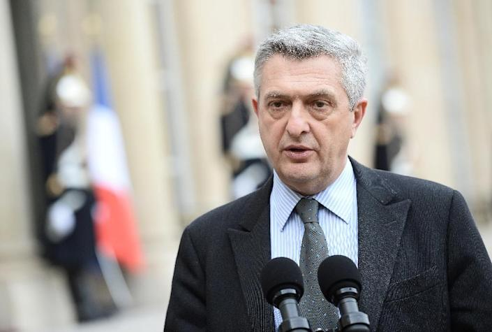 UN High Commissioner for Refugees Filippo Grandi briefs the press at the end of his meeting with the French president in Paris on January 28, 2016 (AFP Photo/Stephane de Sakutin)