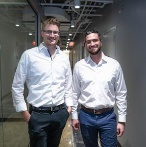 POM leadership team: Lukas Lampe, Co-founder and CTO; Andrew Leahy, Co-founder and CEO