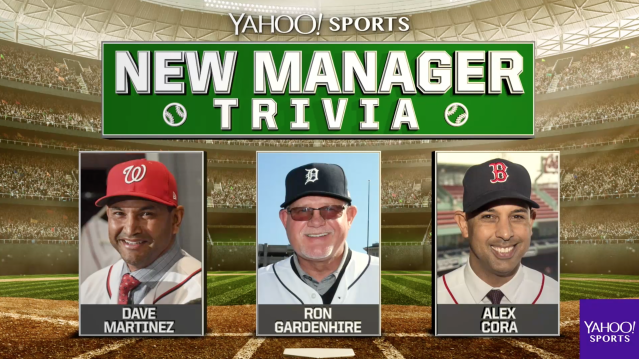 Dave Martinez, Ron Gardenhire and Alex Cora got quizzed about their new teams. (Yahoo Sports)