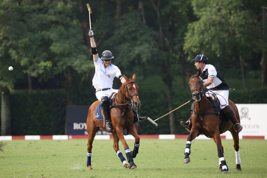 <p>Prince Harry both hosted and played in the polo match at the Singapore Polo Club. (Photo: Don Wong for Yahoo Singapore) </p>