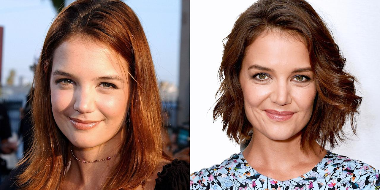 """<p>Actresses are basically professional chameleons, which means changing their look is just part of the job. <a href=""""https://www.marieclaire.com/celebrity/a26061305/katie-holmes-jamie-foxx-photos/"""" target=""""_blank"""">Katie Holmes</a> has been America's favorite girl next door since her <em>Dawson's Creek</em> days, but she's changed up her look over the years too. Here's a look back at Katie Holmes' hair evolution, featuring all of her most iconic looks from the '90s through today. <em></em></p>"""