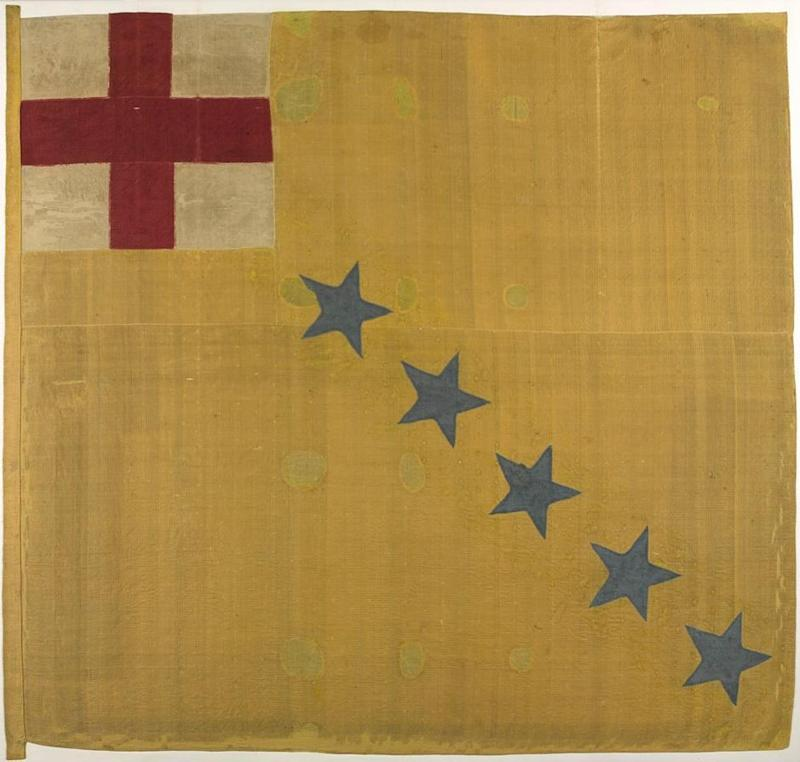 Rebel flag – back after 350 years. This ultra-rare English Civil War battle standard, due to go on public display for the first time in three and a half centuries, was kept and preserved by 11 generations of the same English country family. It will be on permanent show at the National Army Museum in London as from this coming Thursday. (National Army Museum)
