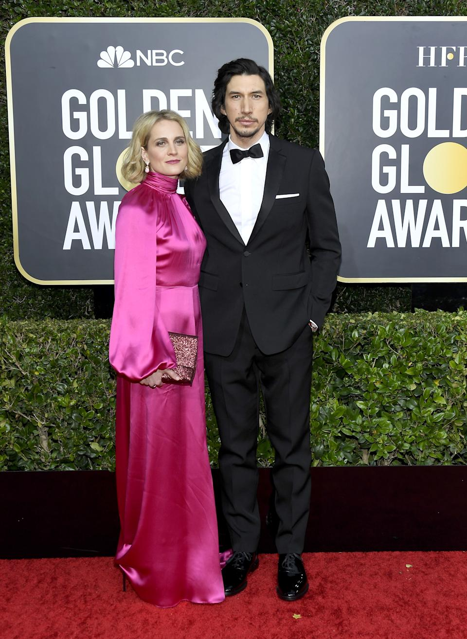 "<h1 class=""title"">Joanne Tucker and Adam Driver in Burberry</h1><cite class=""credit"">Photo: Getty Images</cite>"