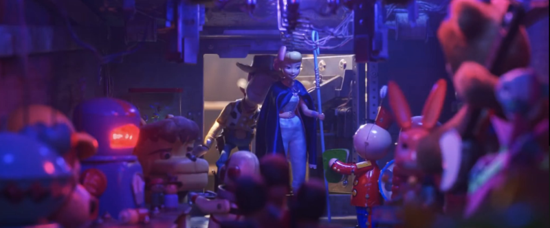 Tinny greets Bo in Toy Story 4 (credit: Pixar)