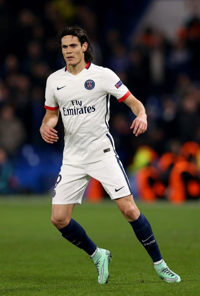 Paris St Germain's Edinson Cavani is being tracked by several large clubs including Manchester United and Arsenal (Adam Davy/PA)