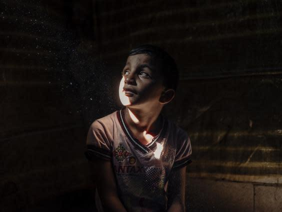 Ali, nine, a Syrian refugee arrived in Lebanon in 2011 (Paddy Dowling/EAA)
