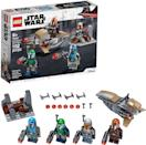 <p>The <span>Lego Star Wars Mandalorian Battle Pack</span> ($15) has 102 pieces and is best suited for kids ages 6 and up.</p>