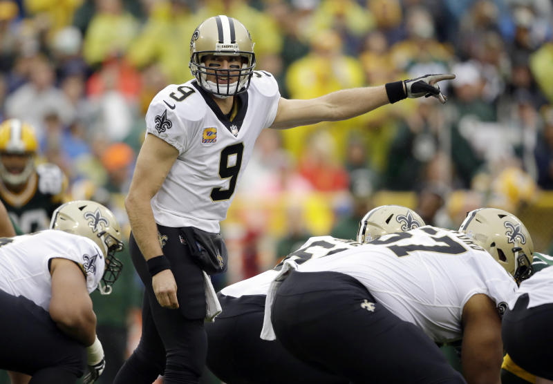 Saints quarterback Drew Brees tries to lead his team to a fifth straight win this week. (AP)