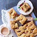 """<p>You can make this moreish cake with apples, pears or whatever fruit is in season.</p><p><strong><strong>Recipe: <a href=""""https://www.goodhousekeeping.com/uk/food/recipes/a535443/plum-crumble-cake-recipe/"""" rel=""""nofollow noopener"""" target=""""_blank"""" data-ylk=""""slk:Plum crumble cake"""" class=""""link rapid-noclick-resp"""">Plum crumble cake</a></strong></strong></p>"""