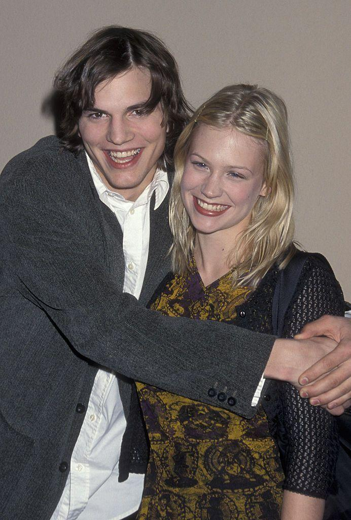 """<p>January revealed in a 2009 <a href=""""http://www.eonline.com/news/798880/january-jones-has-a-message-for-ex-boyfriend-ashton-kutcher"""" rel=""""nofollow noopener"""" target=""""_blank"""" data-ylk=""""slk:GQ"""" class=""""link rapid-noclick-resp"""">GQ</a> interview that Ashton was her first boyfriend, but it didn't work out because he didn't like the idea of her career choices. """"[He] was not supportive of my acting,"""" she said. """"He was like, I don't think you're going to be good at this. So—f*** you! He only has nice things to say now—if anything, I should thank him, because the minute you tell me I can't do something, that's when I'm most motivated.""""</p>"""