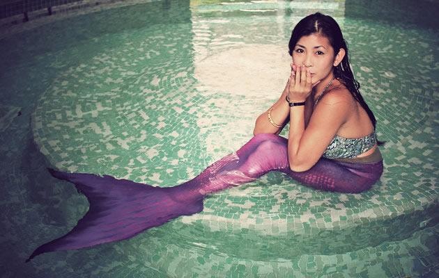Singapore first mermaid, Cara Nicole Neo, 21, who is also an English Literature student at National University of Singapore. (Cara Nicole Neo photo)