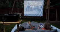 """<p>For the easiest movie screen assembly, a white sheet is your best bet. The Stuffed Suitcase shares several tips to perfecting this method and getting good picture quality, such as using a black sheet behind the white one to avoid letting extra light through.</p><p><strong>See more at <a href=""""https://stuffedsuitcase.com/secrets-tips-creating-family-diy-backyard-movie-screen-setup/"""" rel=""""nofollow noopener"""" target=""""_blank"""" data-ylk=""""slk:The Stuffed Suitcase"""" class=""""link rapid-noclick-resp"""">The Stuffed Suitcase</a>.</strong></p>"""