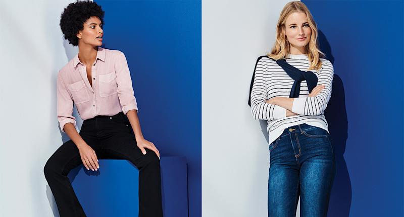 Holly Willoughby stars in M&S autumn campaign and wears the brands stylish High Waisted Skinny Jeans. (M&S)