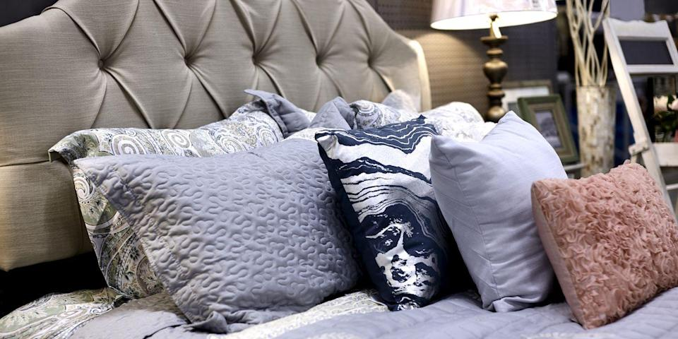 """<p>While everyone knows bed bugs love to nestle in mattresses, they can also make a home out of just about anything that's upholstered, and tend to gravitate toward bedroom furniture, according to the <a href=""""https://www.cdc.gov/parasites/bedbugs/faqs.html"""" rel=""""nofollow noopener"""" target=""""_blank"""" data-ylk=""""slk:Centers for Disease Control and Prevention"""" class=""""link rapid-noclick-resp"""">Centers for Disease Control and Prevention</a>. Avoid fabric-covered headboards and be sure to carefully examine any thrifted item before you bring it home.</p>"""