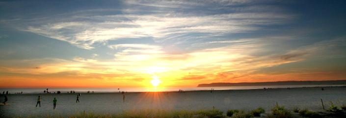 Silver Strand State Beach, located in Coronado, California, offers the Golden State's best seashell hunting ground.