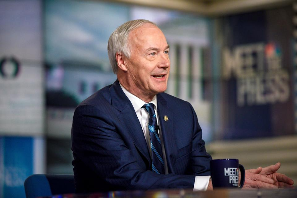 """Arkansas Gov. Asa Hutchinson says the added unemployment benefits had helped people in Arkansas and had """"served a good purpose"""" but now should end. (Photo: William B. Plowman/NBCUniversal via Getty Images)"""