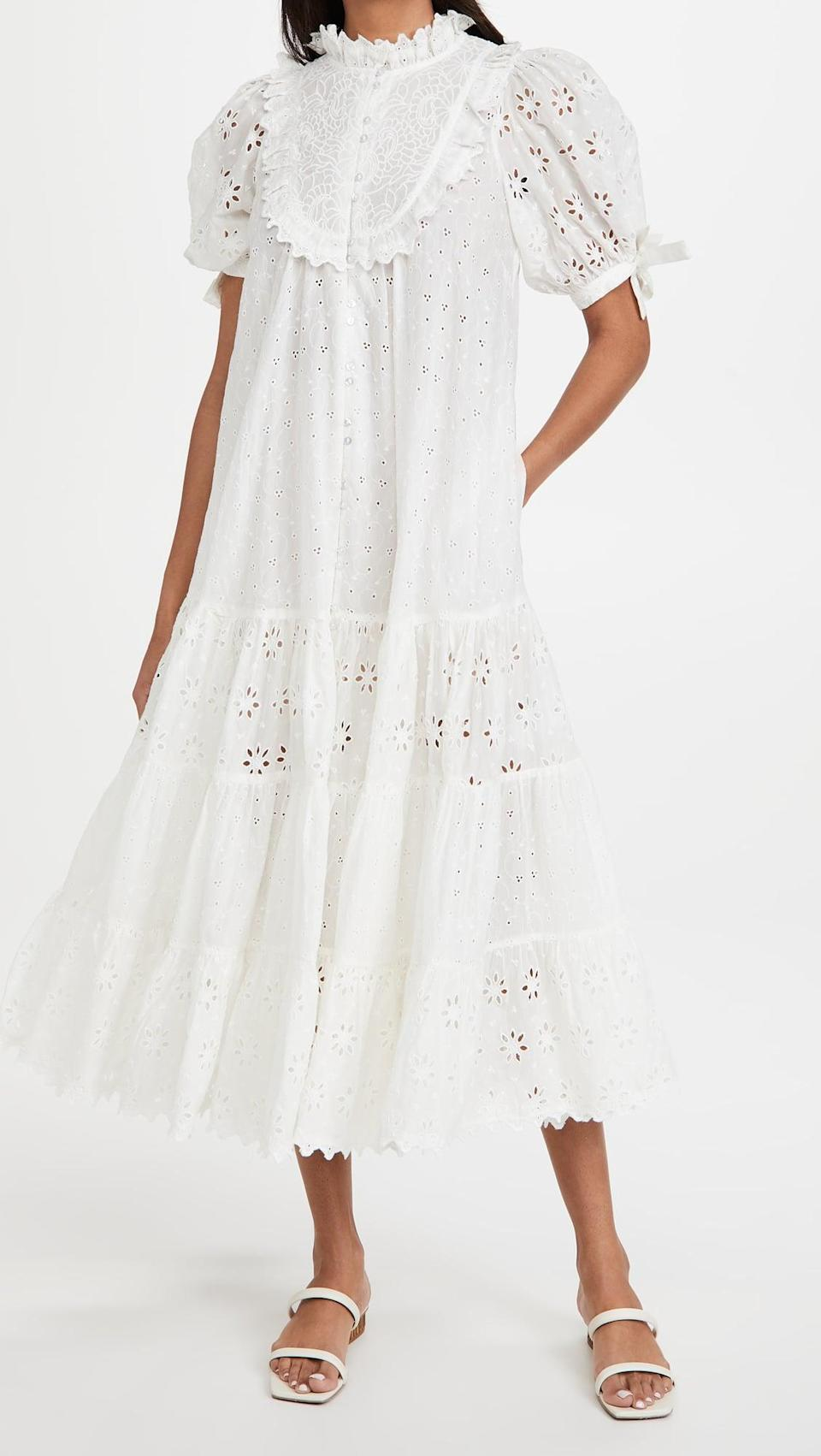 <p>This <span>byTiMo Broderie Anglaise Midi Dress</span> ($565) is lacy and romantic and beautiful. It's a dreamy dress, and it has pockets!</p>