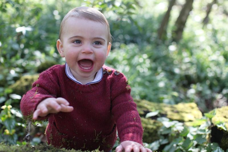 Prince Louis pictured in the garden of the Duke and Duchess of Cambridge's Norfolk home earlier this month (PA)