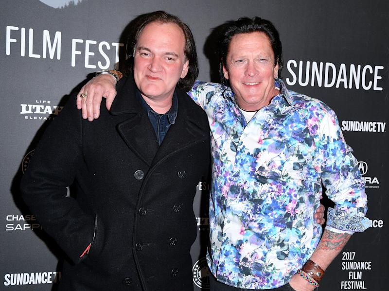 "PARK CITY, UT - JANUARY 27: Quentin Tarantino and Michael Madsen attend ""Reservoir Dogs"" 25th Anniversary Screening during the 2017 Sundance Film Festival at Eccles Center Theatre on January 27, 2017 in Park City, Utah. (Photo by George Pimentel/Getty Images for Sundance Film Festival)"
