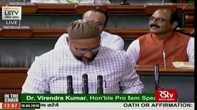 """Chants of """"Jai Shri Ram"""" were alsoheard in Parliamenton two occasions in 2017 - first, when PM Modi came to the Lok Sabha after BJP's victory in the Uttar Pradesh state election and when President Ram Nath Kovind took oath of office in the Central Hall."""
