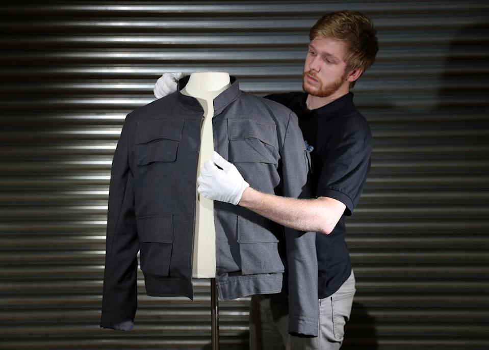 Han Solo's jacket from The Empire Strikes Back (Credit: Andrew Matthews/PA Wire)