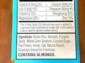 <p>With equally simple ingredients, this Vanilla Almond RX Cereal is made with brown rice, almonds, pumpkin seeds, whole grain sorghum, coconut sugar, pea protein, honey, salt, natural flavors, and rosemary extract.</p>