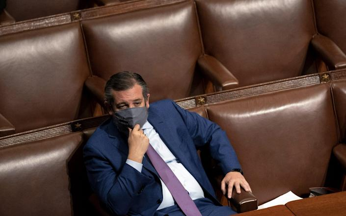 Ted Cruz is one of the leading voices in the Republican party who supports Donald Trump's claims that the 2020 election was fraudulent - Stefani Reynolds/Bloomberg