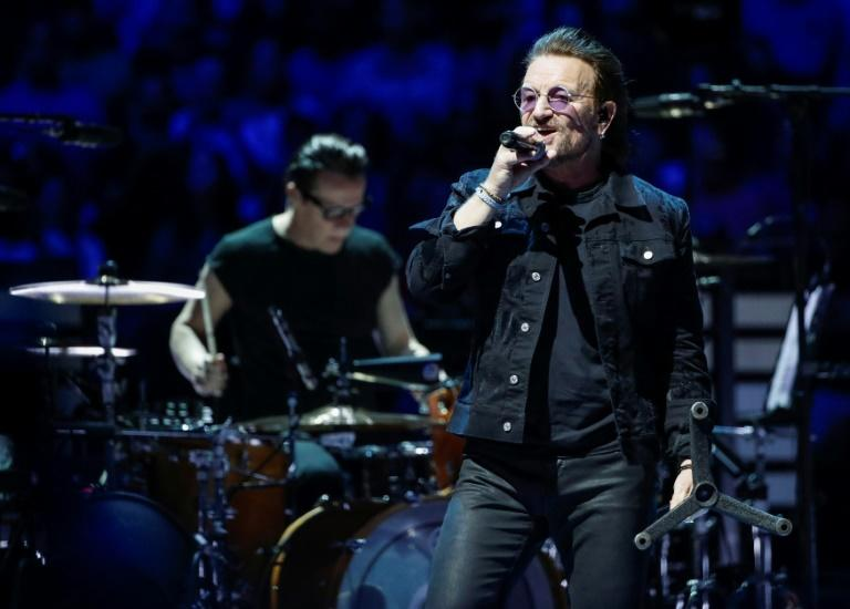 "U2 were performing in Berlin as part of its ""Experience + Innocence"" tour"