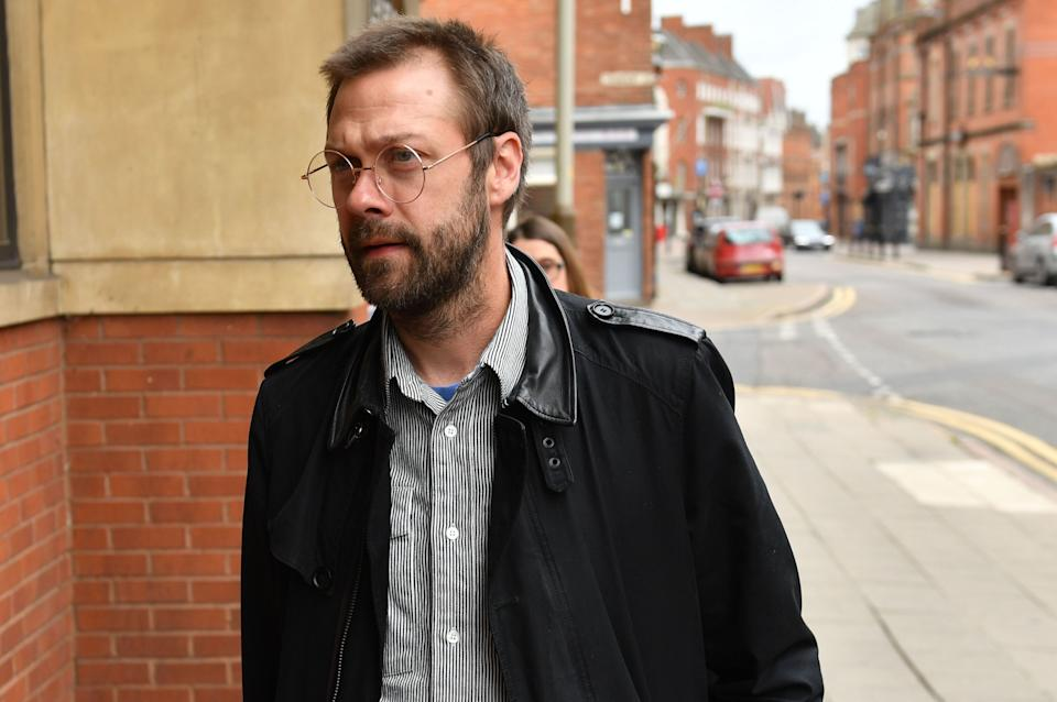 Ex-Kasabian singer, Tom Meighan, arrives at Leicester Magistrates' Court (Photo: PA)