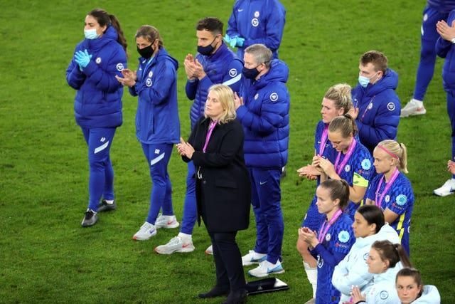 Hayes and her players lost the Women's Champions League final to Barcelona last season.