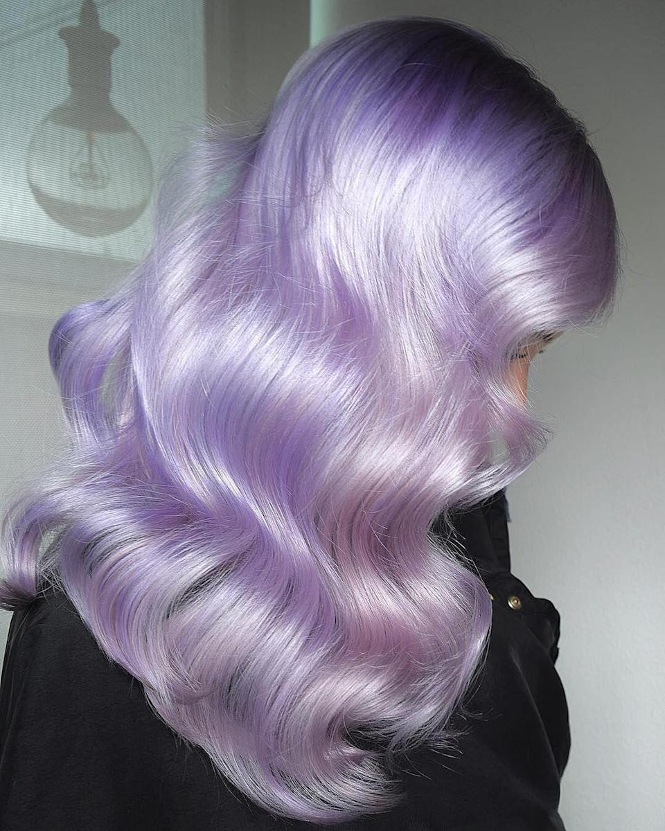 """<p>While rose gold had a major moment last year, trend forecasters think the new """"it girl"""" hair color is lilac. The pastel purple shade, like this one from stylists Melody and Michael Lowenstein at <a href=""""https://www.instagram.com/p/BpVV9pxFNrB/"""" rel=""""nofollow noopener"""" target=""""_blank"""" data-ylk=""""slk:Ross Michaels Salon"""" class=""""link rapid-noclick-resp"""">Ross Michaels Salon</a>, is what they call """"when vintage meets modern.""""</p>"""