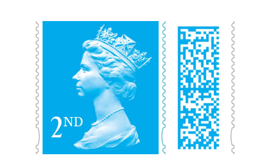 The barcode will be colour matched to the stamp. Photo: Royal Mail