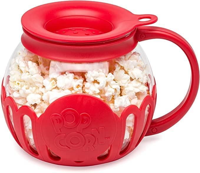 """<h2>Ecolution Original Microwave Micro-Pop Popcorn Popper</h2><br><strong>Best Used For:</strong> Fast personal servings of gourmet popcorn<br><br><strong>The Hype:</strong> 4.4 out of 5 stars and 34,027 ratings<br><br><strong>Practical Peeps say:</strong> """"I'm glad I bought it and here's why—the red top, cover, and bottom are made with silicone so they don't get hot. The top indentation in the cover is for measuring the kernels and I use two instead of one and it pops almost to the top. No worries about chemicals in microwaveable bags any longer and I can choose my own healthy organic Great Northern popcorn, avocado oil, and sea salt.""""<br><br><em>Shop</em> <strong><em><a href=""""https://amzn.to/3yYrSK9"""" rel=""""nofollow noopener"""" target=""""_blank"""" data-ylk=""""slk:Amazon"""" class=""""link rapid-noclick-resp"""">Amazon</a></em></strong><br><br><strong>Ecolution</strong> Original Microwave Micro-Pop Popcorn Popper, $, available at <a href=""""https://amzn.to/3soH80t"""" rel=""""nofollow noopener"""" target=""""_blank"""" data-ylk=""""slk:Amazon"""" class=""""link rapid-noclick-resp"""">Amazon</a>"""