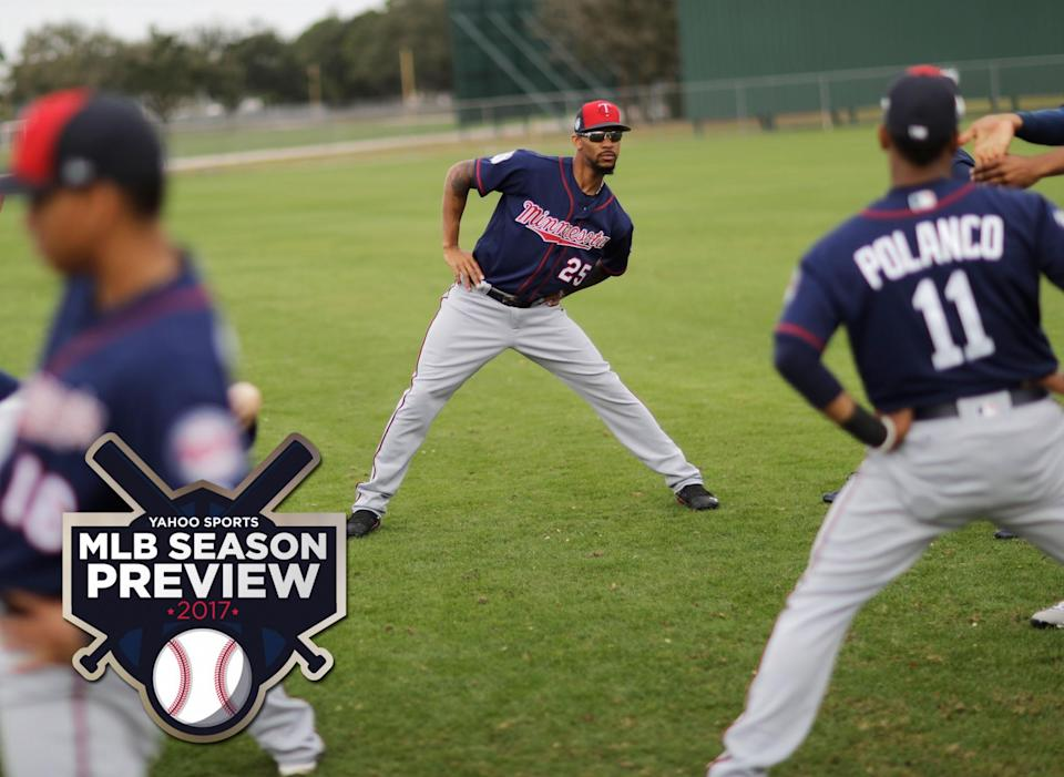 Is this the year Byron Buxton (center) finally breaks out? (AP)