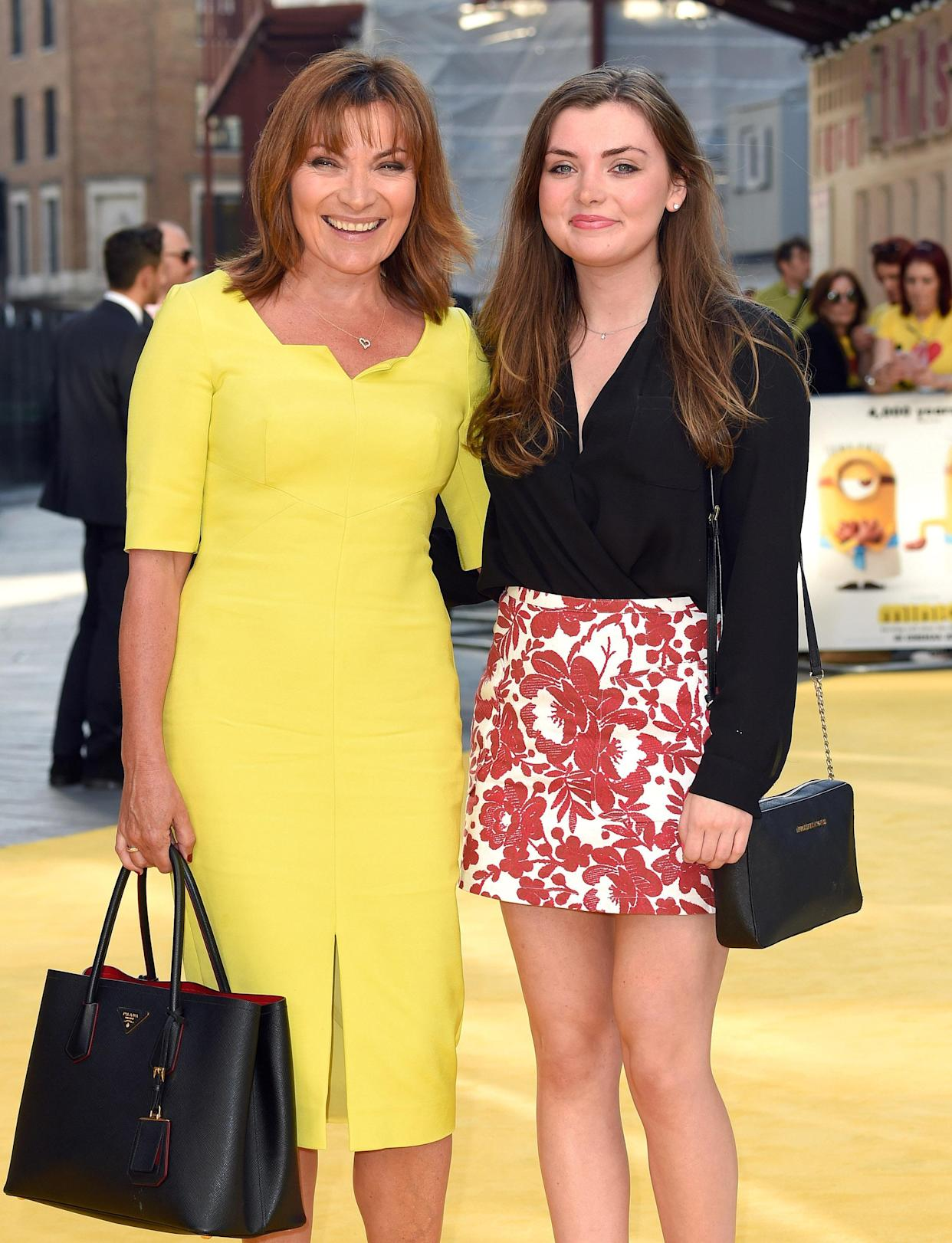 LONDON, ENGLAND - JUNE 11:  Lorraine Kelly and daughter Rosie Smith attend the World Premiere of