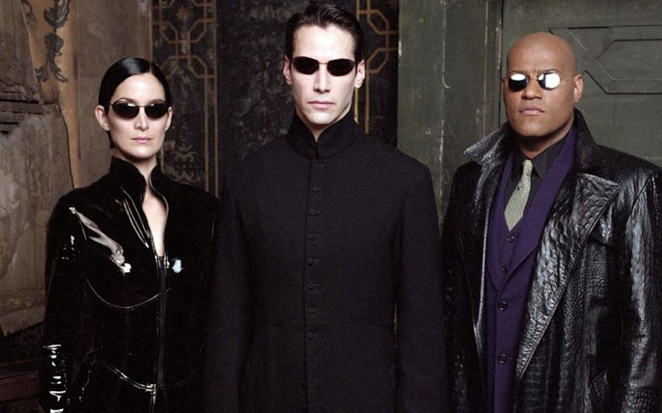 Trinity, Neo, and Morpheus - the heroes of 'The Matrix' (Credit: Warner Bros.)