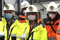 French environment minister Barbara Pompili (c) visited the site on January 5 this year.