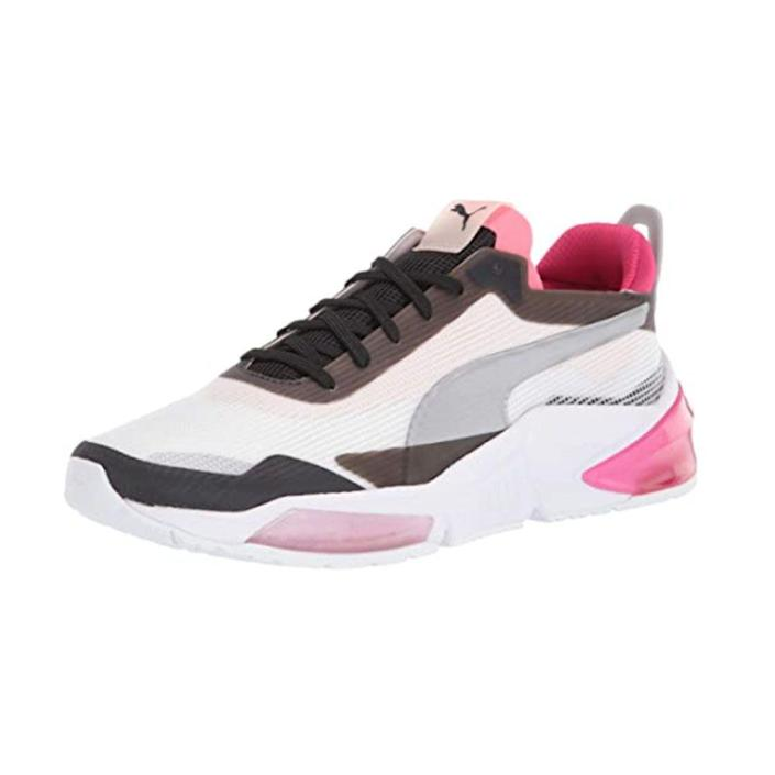 """<p><strong>PUMA</strong></p><p>amazon.com</p><p><strong>$89.95</strong></p><p><a href=""""https://www.amazon.com/dp/B07TQ16HJS?tag=syn-yahoo-20&ascsubtag=%5Bartid%7C2140.g.19966106%5Bsrc%7Cyahoo-us"""" rel=""""nofollow noopener"""" target=""""_blank"""" data-ylk=""""slk:Shop Now"""" class=""""link rapid-noclick-resp"""">Shop Now</a></p><p>These sneakers are made with cushioning and shock-absorption technology that truly makes each step comfortable no matter what terrain you're conquering. And with a design inspired by luxury sports cars, they're as fashionable as they are functional. </p><p><strong>Rave review:</strong> """"Great shoe for lifting and light cardio. I feel very stable when squatting or doing any leg work. I usually do cardio on the treadmill before lifting, and light running is easy in this shoe."""" —T. Williams, <em><a href=""""https://www.amazon.com/gp/customer-reviews/R2UHVSXXDNI3JD/ref=cm_cr_srp_d_rvw_ttl?ie=UTF8&ASIN=B07TJL6HNZ&tag=syn-yahoo-20&ascsubtag=%5Bartid%7C2140.g.19966106%5Bsrc%7Cyahoo-us"""" rel=""""nofollow noopener"""" target=""""_blank"""" data-ylk=""""slk:amazon.com"""" class=""""link rapid-noclick-resp"""">amazon.com</a></em></p>"""
