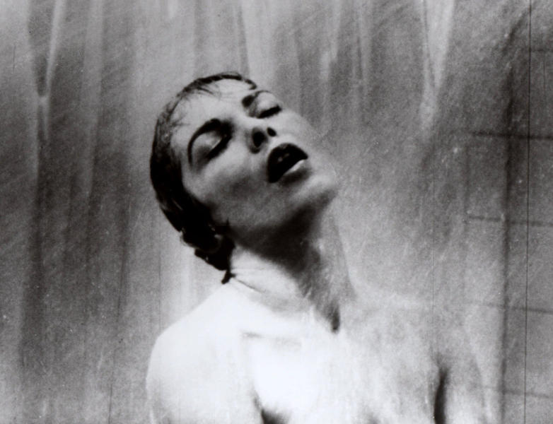 "FILE - In this 1960 file photo, actress Janet Leigh appears as Marion Crane in the shower scene in Alfred Hitchcock's 1960 classic thriller ""Psycho."" Hitchcock's ""Psycho"" is a film that 52 years after its shocking premiere still hasn't released audiences from its subversive thrall. The film, which Hitchcock called ""a fun picture,"" was revolutionary in its violence, its sexiness, its sympathy to the perspective of the criminal mind, and, perhaps above all, its technique. (AP Photo/File)"