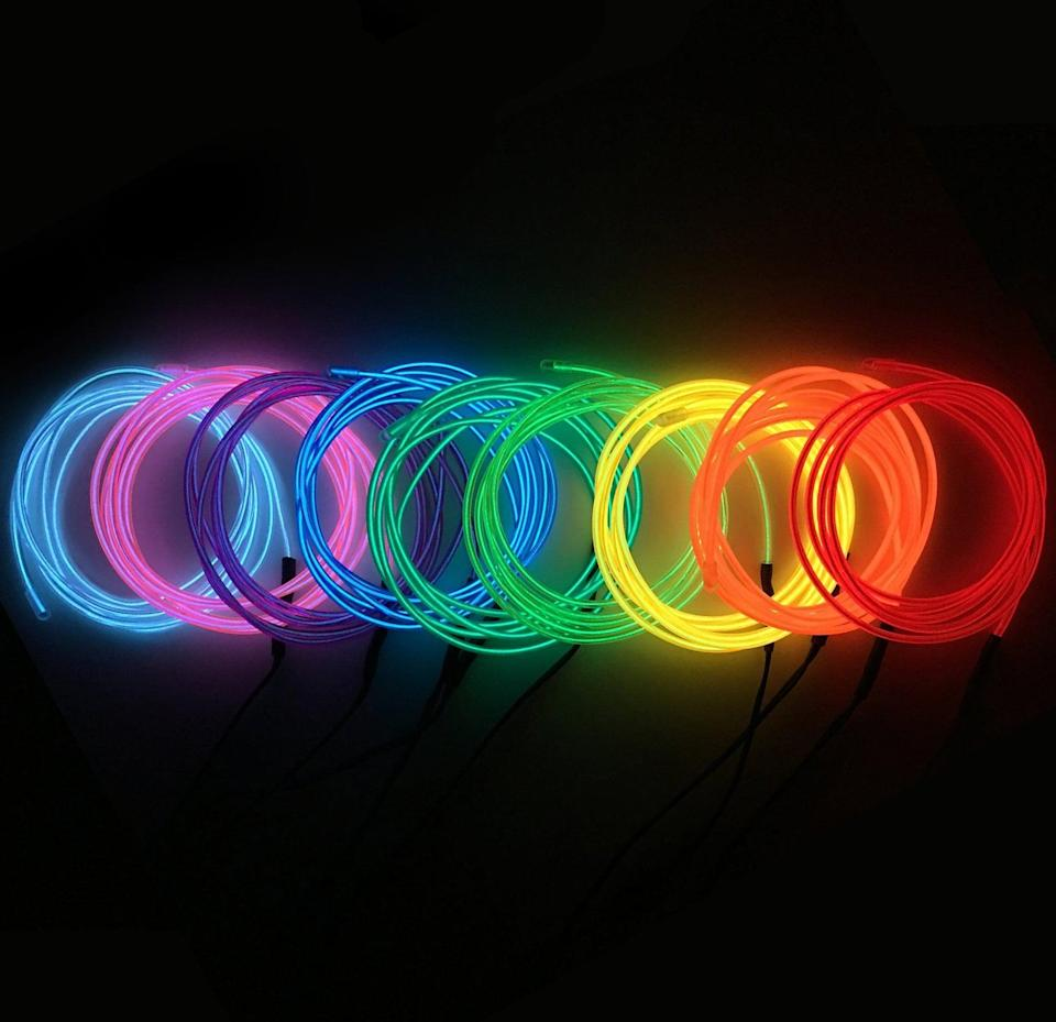 <p>Use these <span>Neon EL Wire 9FT 8 Colors</span> ($10) to add accent lighting and backlighting to your furniture.</p>