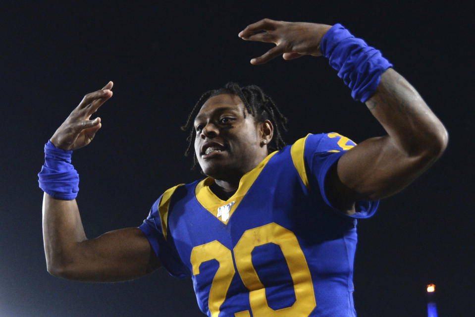Los Angeles Rams cornerback Jalen Ramsey is entering the final year of his contract. (AP Photo/Kyusung Gong, File)
