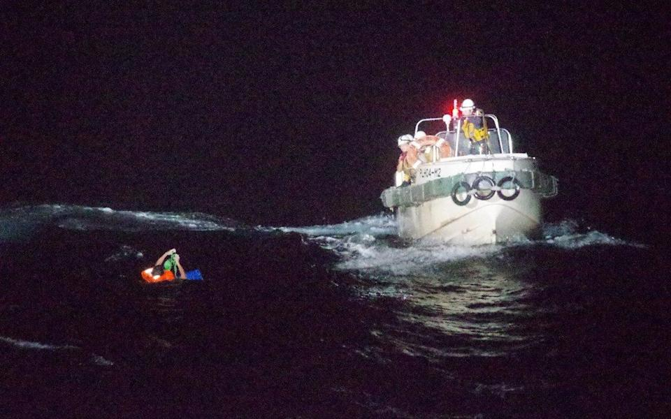 A member of crew was rescued on Wednesday - REUTERS