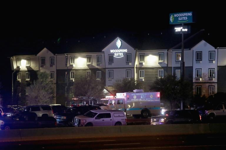 Law enforcement officials had tracked the suspect to a hotel in Round Rock, north of Austin, and he eventually detonated an explosive device in his vehicle nearby