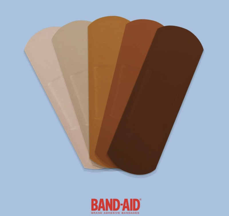 Band-Aid has released bandages in brown and black skin tones.