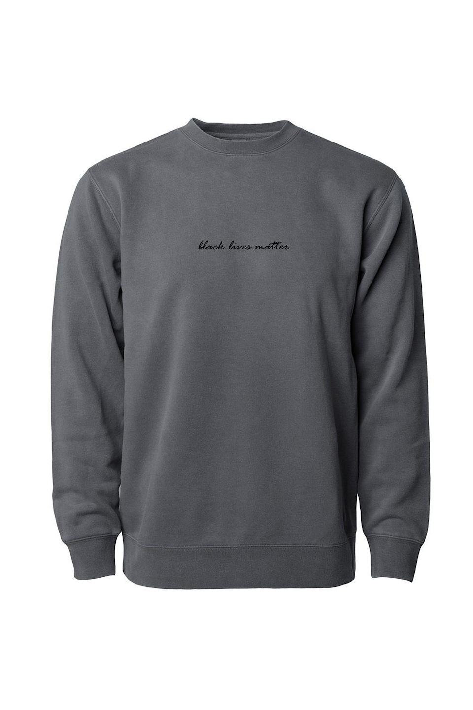 """<p><strong>Phenomenal Woman</strong></p><p>phenomenalwoman.us</p><p><strong>$59.00</strong></p><p><a href=""""https://phenomenalwoman.us/collections/black-lives-matter/products/copy-of-phenomenally-soft-sweatshirt-black"""" rel=""""nofollow noopener"""" target=""""_blank"""" data-ylk=""""slk:SHOP NOW"""" class=""""link rapid-noclick-resp"""">SHOP NOW</a></p><p>Inspired by the Maya Angelou's """"Phenomenal Woman"""" poem, the <a href=""""https://phenomenalwoman.us/"""" rel=""""nofollow noopener"""" target=""""_blank"""" data-ylk=""""slk:Phenomenal Woman Action Campaign"""" class=""""link rapid-noclick-resp"""">Phenomenal Woman Action Campaign</a> was founded to bring awareness to women and minority social causes. Snap up this awesome sweatshirt now and all proceeds will go to <a href=""""https://blackfutureslab.org/"""" rel=""""nofollow noopener"""" target=""""_blank"""" data-ylk=""""slk:Black Futures Lab"""" class=""""link rapid-noclick-resp"""">Black Futures Lab</a>, an organization that helps Black communities build political power at the local-, state-, and federal-levels. </p>"""