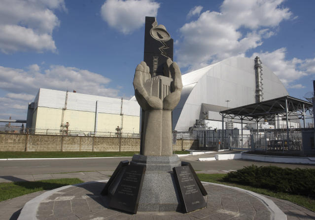 <p>A general view of the new Safe Confinement over the 4th block of the Chernobyl nuclear plant, in Ukraine, 20 April, 2018. (Photo: STR/NurPhoto via Getty Images) </p>