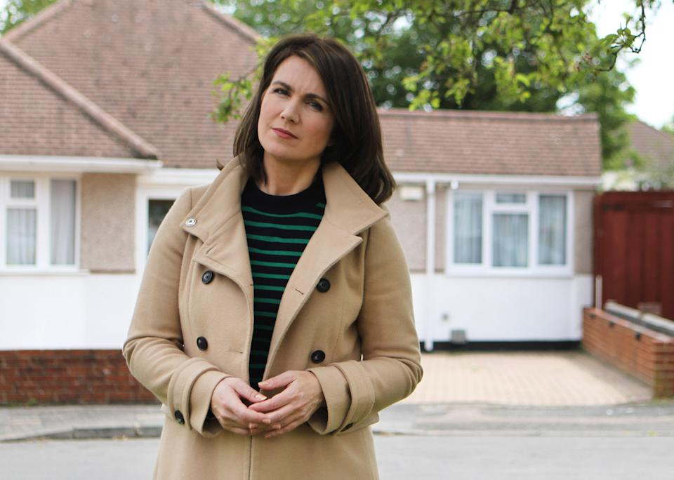 Embargoed picture: For publication from Tuesday 21st September 2021From Optomen Television THE REAL MANHUNT Thursday 30th September 2021 on ITV Pictured: Susanna Reid
