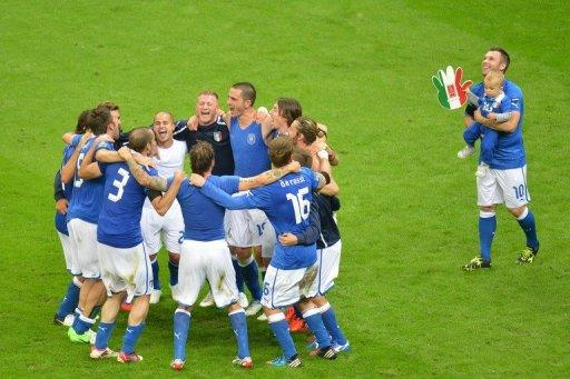 Italy are now into Sunday's final in Kiev to face defending champions Spain