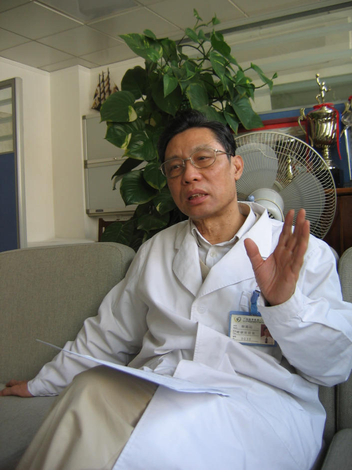 Zhong Nanshan, a prominent scientist who is leading a government-appointed expert panel on the outbreak, said in an interview on state-run television on Monday that the virus is capable of spreading from person to person. (Getty)