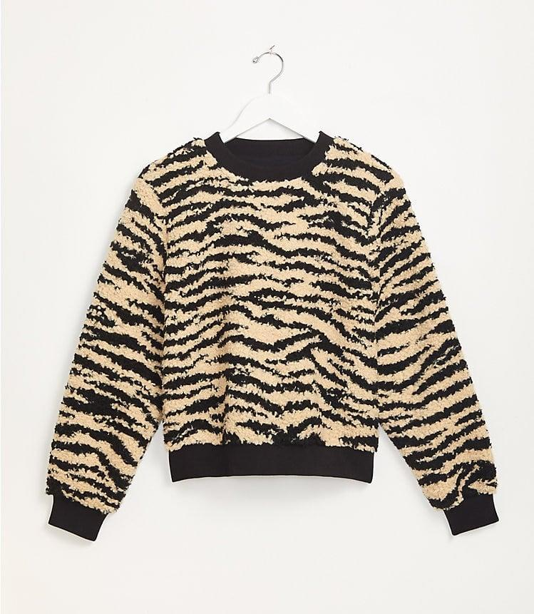 <p>This funky <span>Lou & Grey Zebra Cozy Up Sweatshirt</span> ($80) is at the top of our wish list.</p>